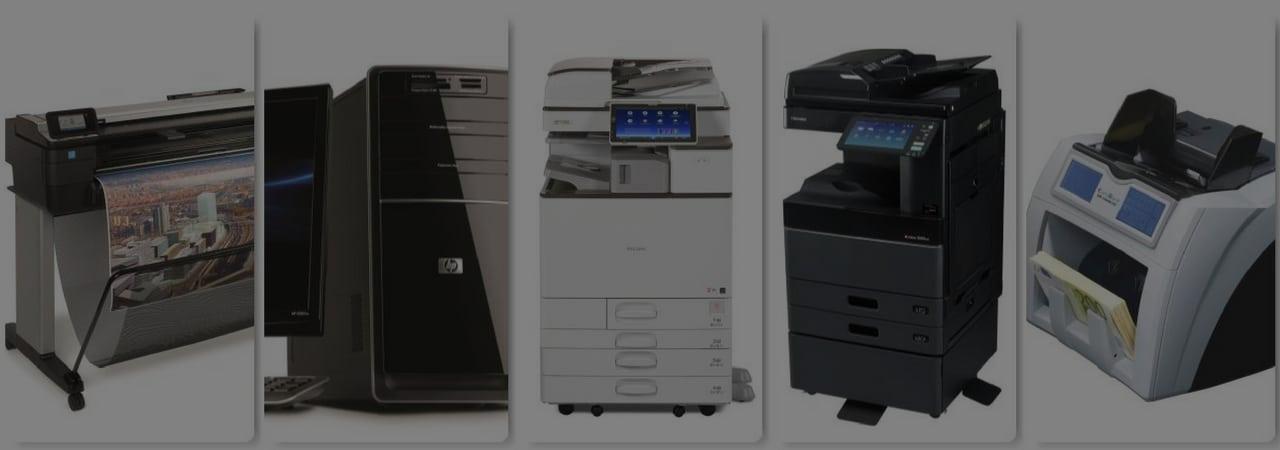 Noleggio e manutenzione di macchine per l'ufficio e PC